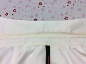 綿シャツの汗による黄バミの復元加工(ビフォー画像)